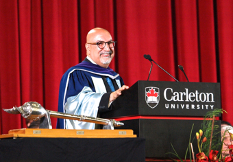 Convocation speech. Photo by Nicholas Kharas.
